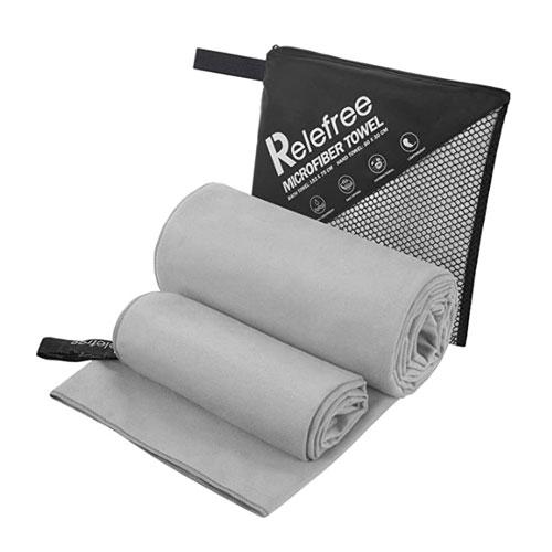 Relefree 2 Pack Microfiber Camp Towels