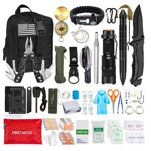 AOKIWO 126Pcs Emergency Survival Kit