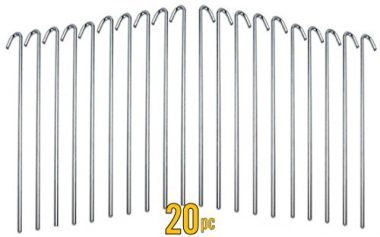 Galvanized Steel Tent Pegs by ALAZCO