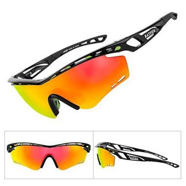 BATFOX Sport Sunglasses with Interchangeable Lenses