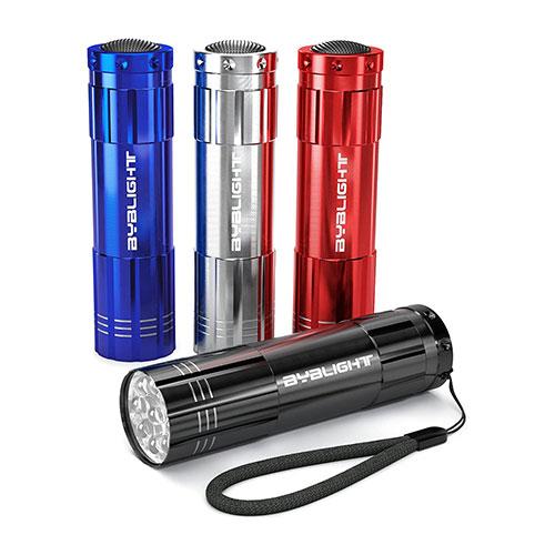 BYB Super Bright 4-Pack Mini Aluminum LED Flashlight