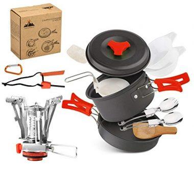 AnimaMiracle 15 Pcs Camping Mess Kits