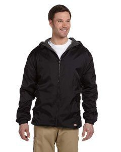 Dickies Men's Fleece-Lined Hooded Wind Jacket