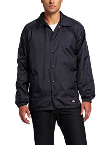 Dickies Men's Snap-Front Nylon Windbreaker Jacket