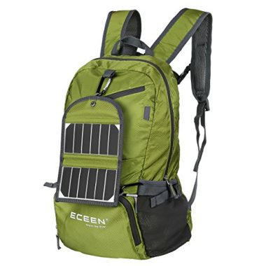 External Frame Backpack with 5 Watts Solar Charger & Battery Pack by ECEEN