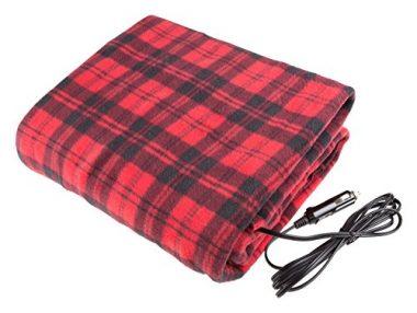 Stalwart Electric Car Blanket- Heated 12 Volt Fleece Travel Throw