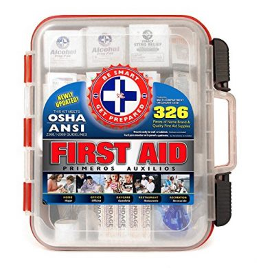 Be Smart Get Prepared First Aid Kit Hard Red Case