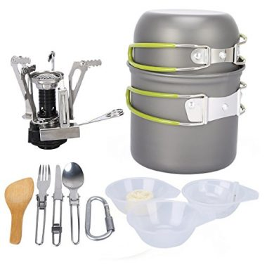 G4Free 13 Piece Camping Mess Kits