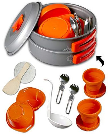gear4U 13 Piece Camping Mess Kits