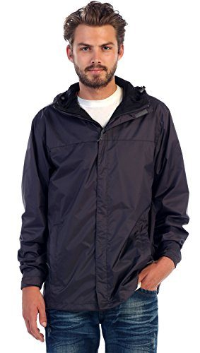 Gioberti Men's Waterproof Rain and Windbreaker Jacket