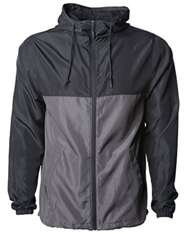 Global Men's Hooded Lightweight Windbreaker Jacket