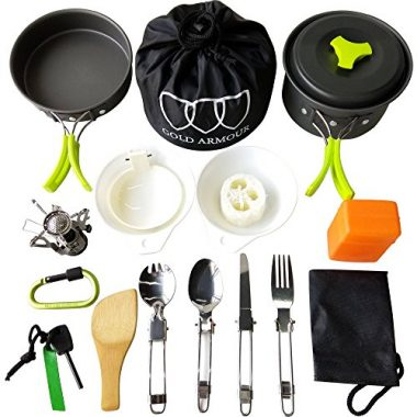 Gold Armour 17Pcs Camping Mess Kits