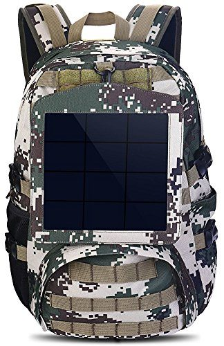 HOWO Camouflage Solar Backpack