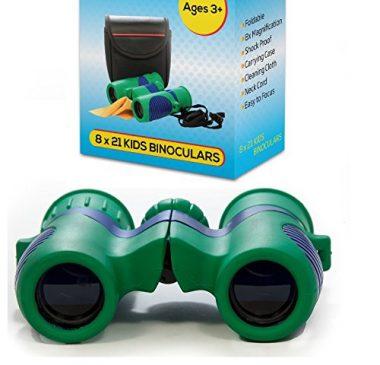 Kidwinz Shock Proof 8×21 Kids Binoculars Set with High Resolution Real Optics