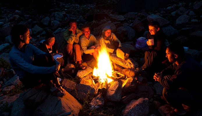 Lean-to_Campfire
