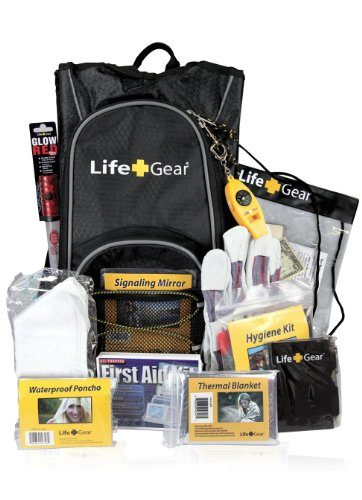 Life Gear LG492 Emergency Survival Kit Backpack