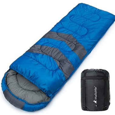 MalloMe 3 Season Camping Sleeping Bag for Adults and Kids