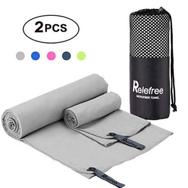 Relefree 2 Pack Microfiber Camp Towels