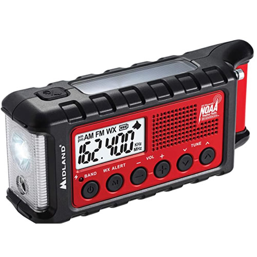 Midland ER310 Hand Crank Weather Alerts Emergency Radio