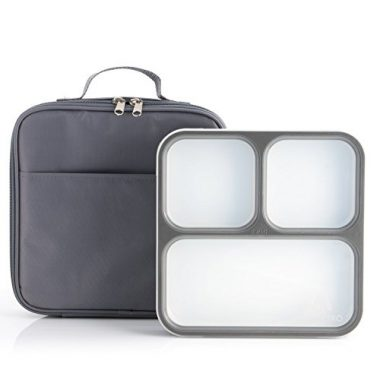 Modetro Ultra Slim Bento with 3 Portion Control Compartments Lunch Cooler