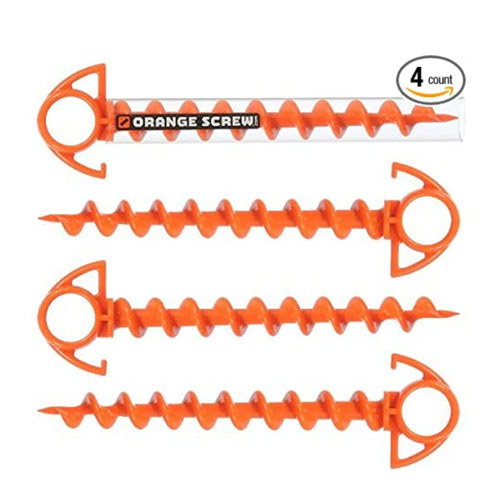 Orange Screw The Ultimate Ground Anchors Tent Stakes
