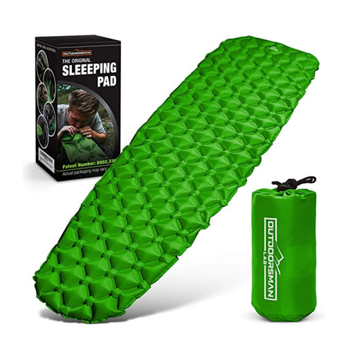 Outdoorsman Lab Ultralight Inflatable Camping Sleeping Pad