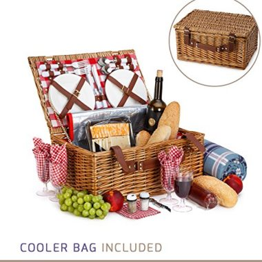 Vysta Wicker Picnic Basket