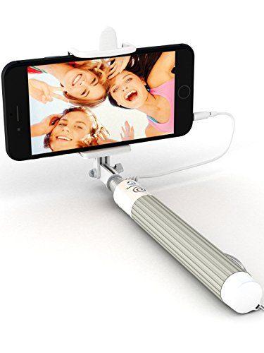 Selfie World Premium 5-in-1 Wired Selfie Stick