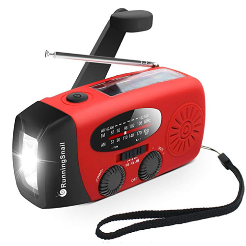 RunningSnail Hand Crank AM/FM NOAA Emergency Radio