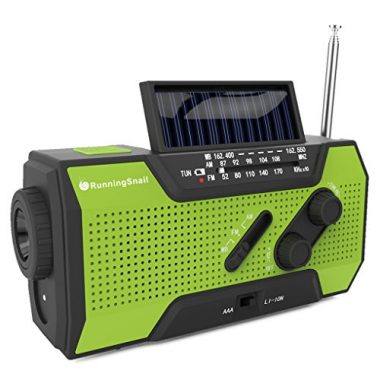 RunningSnail Solar Crank NOAA Weather Emergency Radio