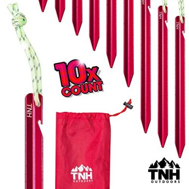 Aluminum Tri-beam Tent Stakes and Bag by TNH Outdoors