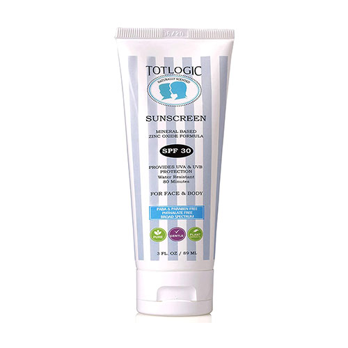 TotLogic Natural Eco-Friendly Reef Safe Sunscreen