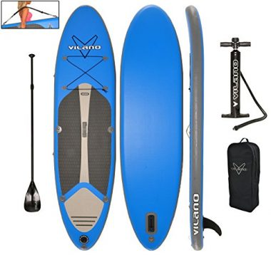 Vilano Navigator 10′ (6″ Thick) Inflatable SUP Stand up Paddle Board Package