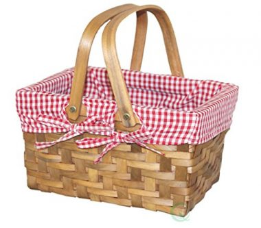 Vintiquewise Rectangular Small Picnic Basket