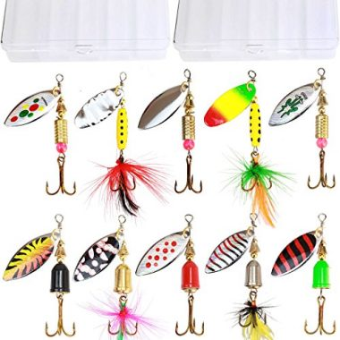 Tbuymax 10pcs Fishing Lure Spinnerbait