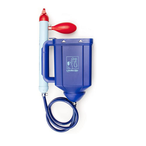 LifeStraw Family 1.0 Portable Gravity Powered Backpacking Water Filter