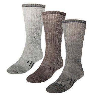 DG Hill 3 Pairs Thermal 80% Merino Wool Hiking Socks