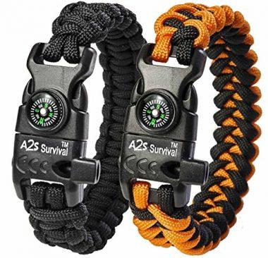 A2S Protection Paracord K2-Peak Survival Bracelet