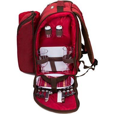APOLLO WALKER TAWA 2 Person Red Picnic Backpack