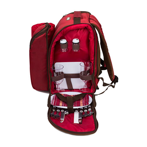 Apollo Walker 2 Person Red Picnic Backpack