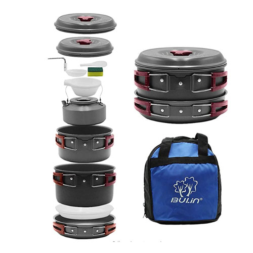 Lightweight Collapsible | Foldable Cooking Pots//Pans//Bowls Hiking Outdoors Family Bear Bowl Camping Cookware Set Backpacking Gear Durable 128, 64, and 32 ounces Compact