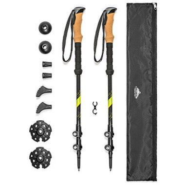 Cascade Mountain Tech Carbon Fiber Collapsible Quick Lock Trekking Poles