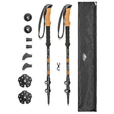 Cascade Mountain Tech Aluminum Collapsible Quick Lock Trekking Poles