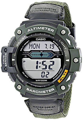 Casio Men's Sport Watch with Nylon Band Altimeter Watch