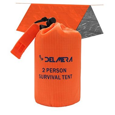 Delmera Emergency Survival Shelter Tent for 2 Persons