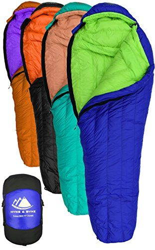 Hyke & Byke Goose Down Sleeping Bag for Backpacking