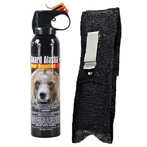 Guard Alaska Bear Spray Repellent + Pepper Enforcement Belt Clip Holster