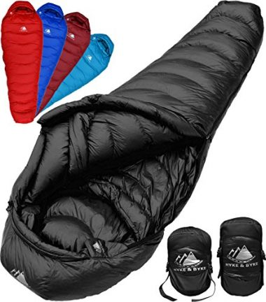 Hyke & Byke Down Sleeping Bag for Backpacking