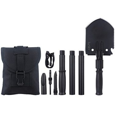 IUNIO Military Portable Folding Survival Shovel