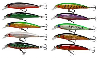 JSHANMEI 10pcs/lot Minnow Walleye Lures